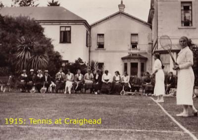 1915 Tennis at Craighead