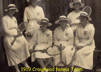 1919 Tennis Team