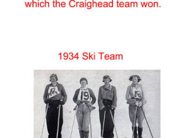 1934 ski Team