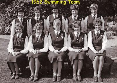 1962 Swimming Team