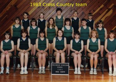 1983 Cross Country Team