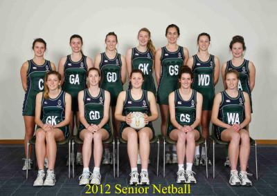 2012 Senior Netball